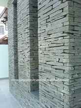 Natural Split Ledge Grey Stone Veneer Slate for External and Internal Wall Cladding